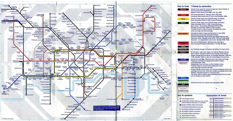 london underground system map
